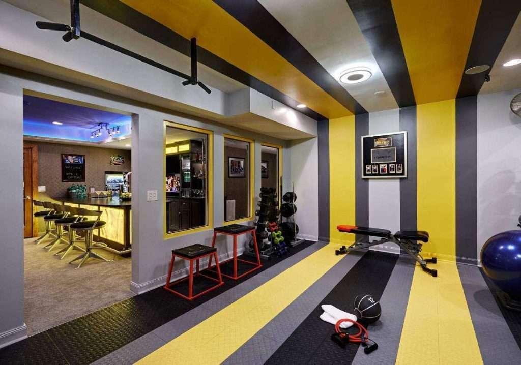 academia amarela 1024x718 - Cores para academia de musculação: guia completo para você não errar na escolha