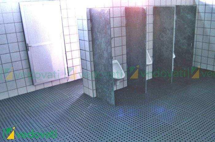 Pisos emborrachados para Banheiro e Vestiários