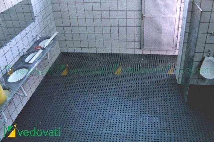 Vestiário visão geral 062 - Piso de borracha para academia EBV-30 Peso livre e Crossfit